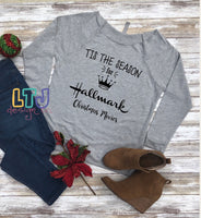 Tis the Season for Hallmark Christmas Movies 3/4 Sleeve Raglan ~ Christmas Shirt ~ Hallmark Christmas