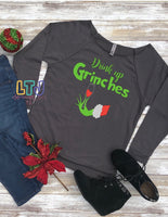 Drink up Grinches 3/4 Sleeve Raglan ~ Christmas Shirt ~ Ugly Christmas Sweater ~ Grinch Shirt