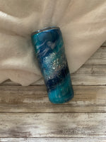 Life is Better at the Beach Glitter Tumbler / Milky Way Tumbler / Beach Tumbler