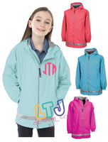 Youth Monogrammed Rain Jacket