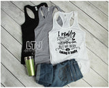 I really don't mind getting older but my body is taking it badly~ Racerback Tank ~ Mom Shirt