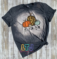 It's Fall Y'all short sleeve bleached tee ~ Graphic Tee ~ Fall Shirt