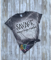 Savage bleached shirt ~ Savage Bougie Ratchet ~ Graphic Tee