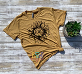 Sunflower Shirt ~ Short Sleeve Tee ~ Graphic Shirt