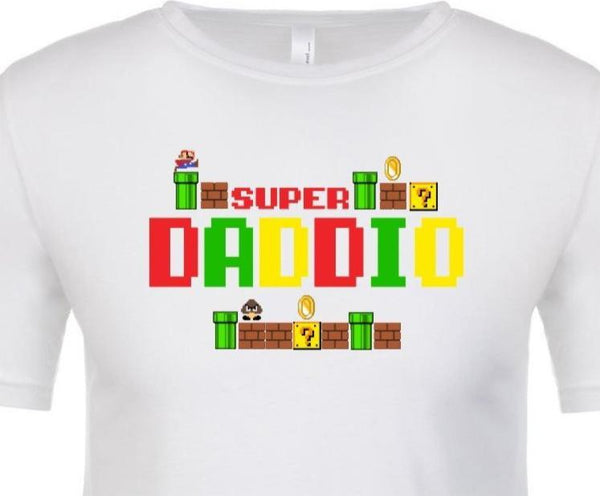 Super Daddio Short Sleeve Tee / Father's Day Shirt / Father's Day Gift / Birthday Gift for Dad
