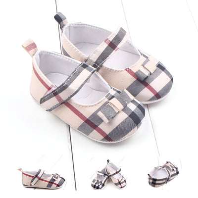 Baby Shoes Girl New Lattice Pattern infant crib shoes Classical Soft Anti-Slip Toddler shoes for newborn Baby First Walkers - ibootskids