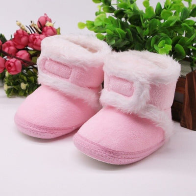 Faux Fur Girls Baby Leather boots - ibootskids