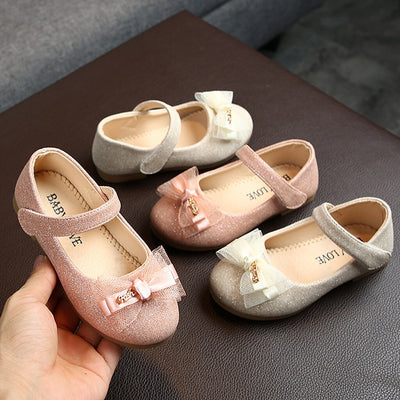 Toddler Infant Kids Girl Lace Butterfly-Knot Bling Single Princess Leather Shoes Baby shoes Baby toddler shoes Hotsale NEW - ibootskids