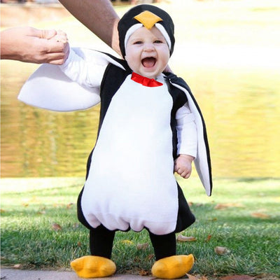 Baby Boys Girls Carnival Halloween Costume Romper Kids Clothes Set Toddler Cosplay penguin Jumpsuits Infant Clothes - ibootskids