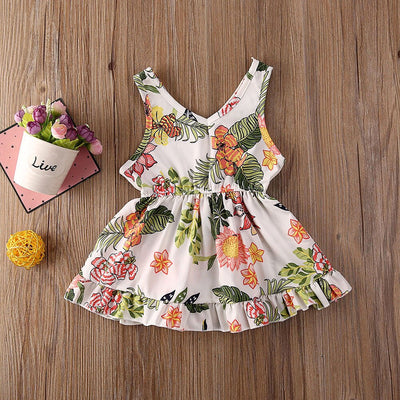 Toddler Baby Girl Flower Dress Sleeveless Mini Dress Pageant Party Dresses Summer Child Girl Clothes - ibootskids