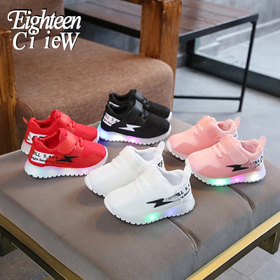 Children Shoes for Boys Luminous Sneakers tenis led infantil Children Shoes with Light Sneakers Glowing Baby Toddler Boy - ibootskids