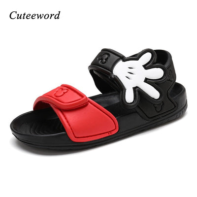 Children Beach Shoes Summer Breathable Boys Shoes Hollow Cartoon Kids Sandals Non-slip Flat Soft Sole Casual Sandals Girls Shoes - ibootskids