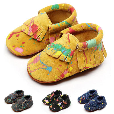 Genuinu Leather Shoe Baby Moccasins Soft Shoes  Non-slip Footwear - ibootskids
