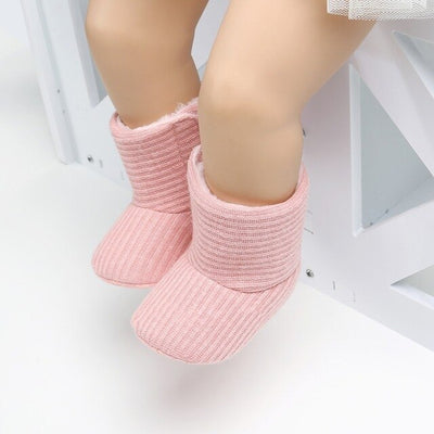 Baby Kids Knitted Fur Soft Sole Boots - ibootskids