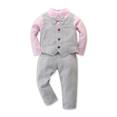 Toddler Baby Boy Clothes Autumn Children Clothing Gentleman Sets For Kids Boys Clothes T-shirt+Jeans Sport Suits Outfits - ibootskids