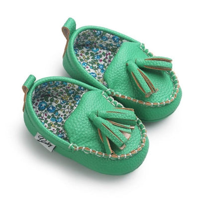 Moccasin First Walkers Newborn Baby Shoes Toddler Prewalker Shoes Baby Boy Girl Pu Tassel pendant Leather Shoes - ibootskids