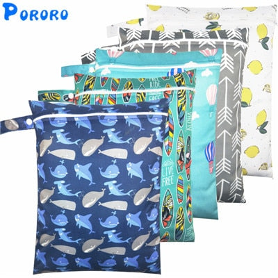 Waterproof Wet Bag Baby Cloth Diaper Bags - ibootskids