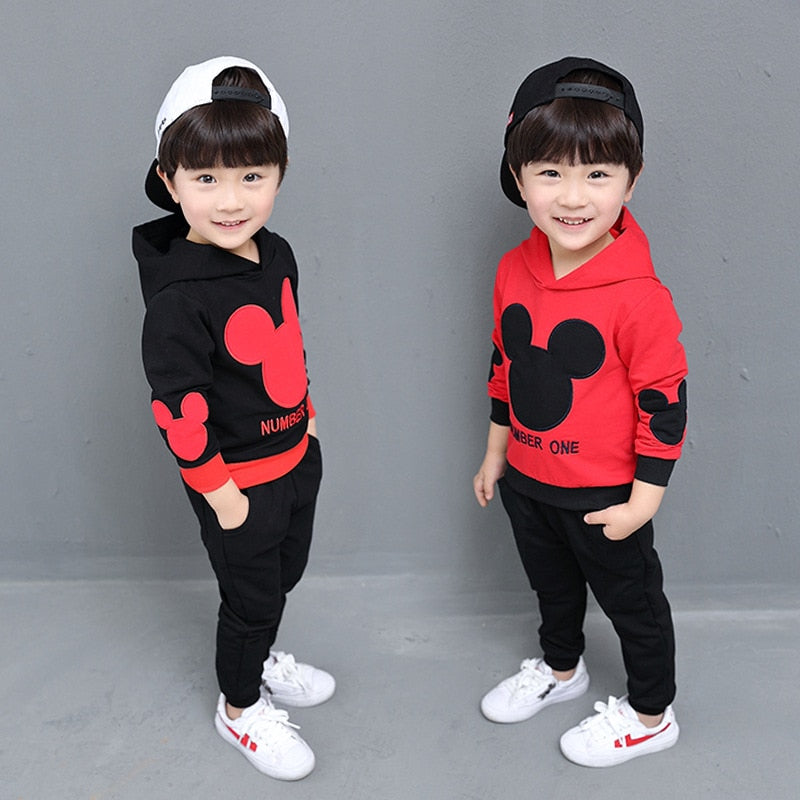 Baby Boys Mickey Clothing Hooded Sets - ibootskids