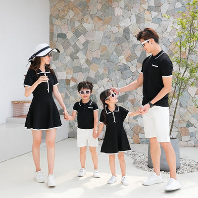 Family Matching Clothes Summer Big Little Brother Sister Outfits Mommy and Me Dress Family Look Boys Clothing Father Son Shirts - ibootskids