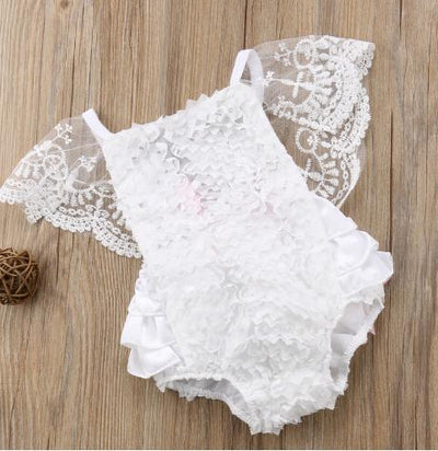 Cute Newborn Infant Baby Girl Summer Cotton Clothes Lace Ruffles Bodysuit Sunsuit Outfits Clothes - ibootskids