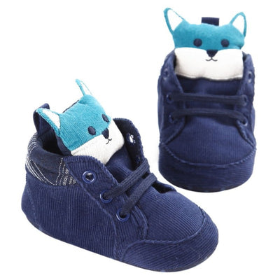 Knit Fox Baby Girl Shoes Animal Cartoon Cute Newborn Baby Shoes Cotton Soft Bottom First Walkers 0-18M Boys Shoes - ibootskids