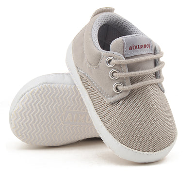Newborn Baby Boy Shoes First Walkers Spring Autumn Baby Boy Soft Sole Shoes Infant Canvas Crib Shoes 0-18 Months - ibootskids