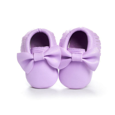 Baby Girls Shoes Tassels PU Leather Waterproof Baby Shoes Newborn Moccasin Soft Infants  Prewalker 18 colors - ibootskids