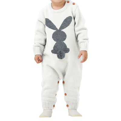 Baby Rompers Set Newborn Rabbit Baby Jumpsuit Overall Long Sleevele Baby Boys Clothes Autumn Knitted Girls Baby Casual Clothes - ibootskids