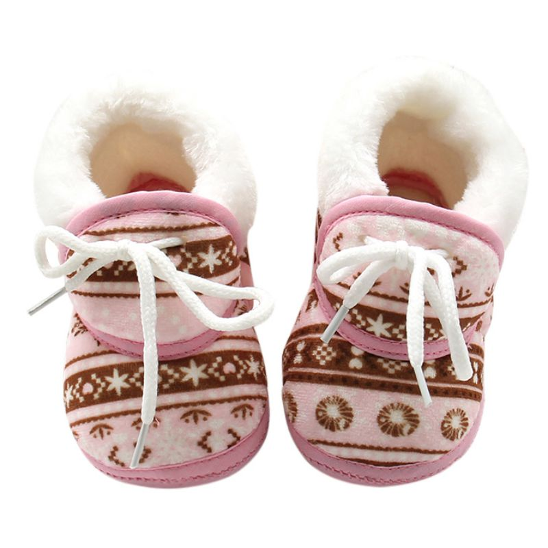 Baby Shoes for Newborns Infant Soft Soled Footwear Walking Shoes Winter Toddler Keep Warm Print First Walkers Shoes for babies - ibootskids