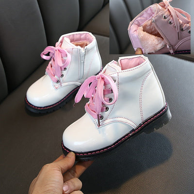 Children Martin Boots PU Waterproof Boys Shoes Fashion Girls Princess Boots Baby Kids Snow Boots - ibootskids