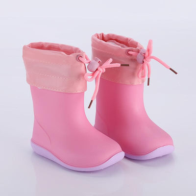 Rain Boots Kids Boys Non-slip Rubber Boots Toddler Girls Waterproof Water Shoes Warm Children Rainboots four Seasons Removable - ibootskids