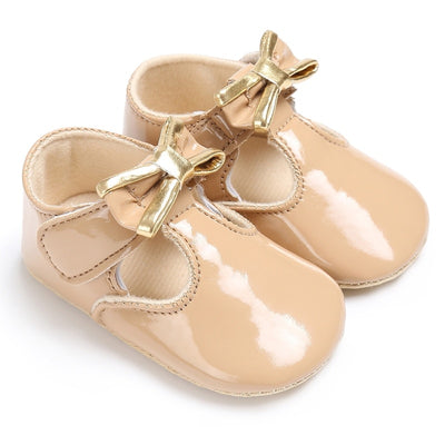 Newborn Baby Girls Shoes PU leather Buckle First Walkers Red Black Pink White Blue - ibootskids