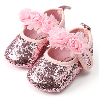 Summer Baby Girls Princess Shoes Newborn Baby Shoes Sequins Infant Soft Sole First Walkers Flower Soft Sole Toddler Shoes - ibootskids