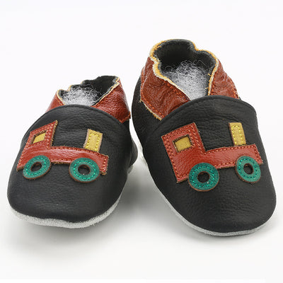 Skid-Proof Baby Shoes Soft Genuine Leather Baby Boys Girls Infant Shoes Slippers 0-6 6-12 12-18 18-24 First Walkers - ibootskids