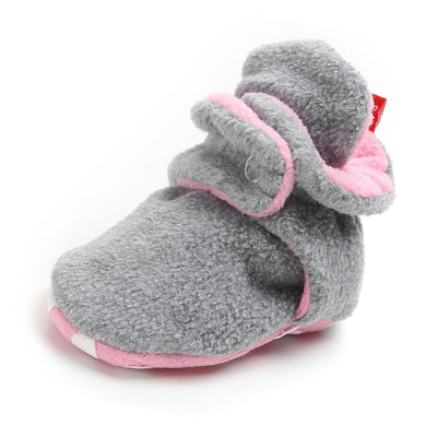 Newborn Baby Socks Shoes Boy Girl Star Toddler First Walkers Booties Cotton Comfort Soft Anti-slip Warm Infant Crib Shoes - ibootskids