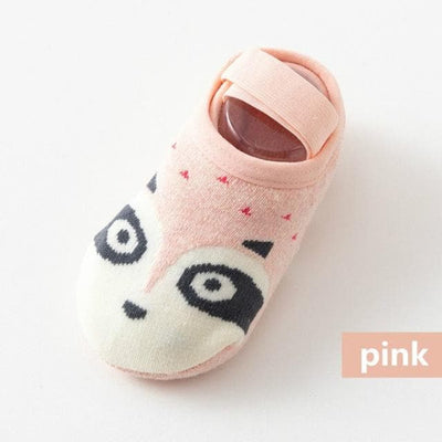 1 Pair Fashion Baby Girls Boys Cute Cartoon Non-slip Cotton Toddler Floor Socks Animal pattern First Walker Shoes for Newborns - ibootskids