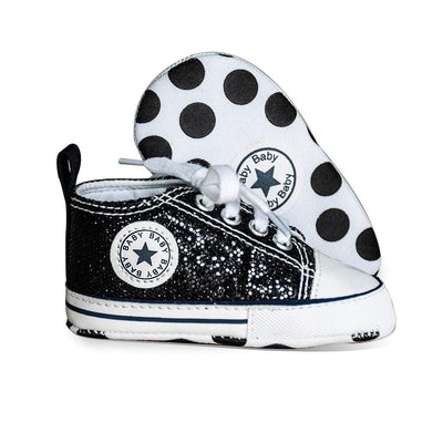 2020 New color Newborn Baby Shoes Boy Girl Soft Anti-Slip Bling Flash First Walkers Canvas Crib Infant Toddler Shoes - ibootskids