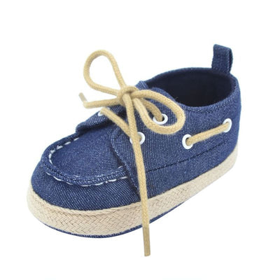 WEIXINBUY Baby Boy Girl Blue Sneakers Soft Bottom Crib Shoes Size Born To 18 Months - ibootskids