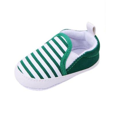 WEIXINBUY Baby Boys Shoes Infant Slip-On First Walkers Toddler Striped Canvas Sneaker bebek ayakkabi - ibootskids