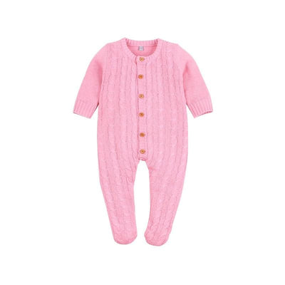 2020 Newborn baby boy rompers Toddler Jumpsuit Girls Candy Color Knitted Baby Clothes Infant Boy Overall Children Outfit Spring - ibootskids