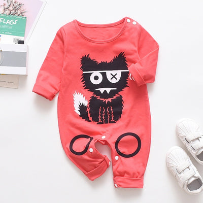New Newborn Baby clothes Boys Girls Rompers cute Animal Printed Long Sleeve Winter Cotton Kid Jumpsuit Playsuit Outfits Clothing - ibootskids