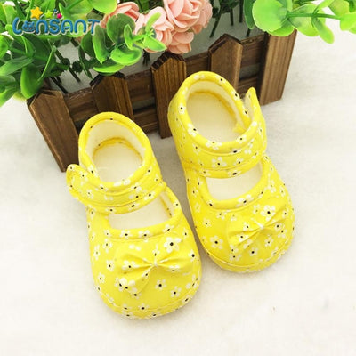 LONSANT 2020 Kids Baby Bowknot Printing Newborn Cloth Shoes E1120 - ibootskids