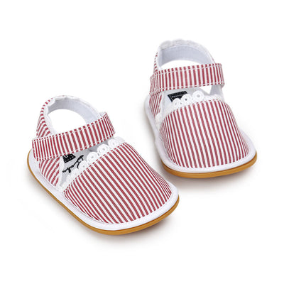 WONBO Baby Shoes Baby Girls Shoes Soift Cotton Fabric Shoes Summer Princess Lace Prewalkers - ibootskids