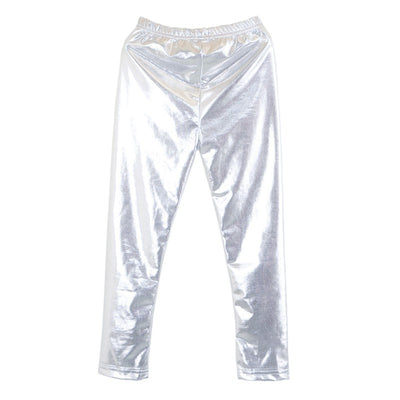 Hot Fashion Baby Girl Metallic Shiny Skinny Pants Leggings Casual Cool Pants Cropped Pants Children Clothes - ibootskids