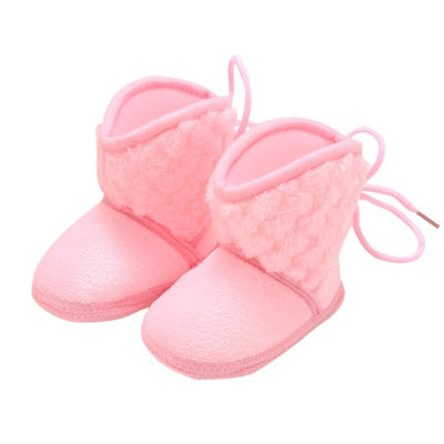 Newborn Kids Baby Boots Winter Plus Velvet Tie Flowers Warm Baby Girl Shoes 0-18M - ibootskids