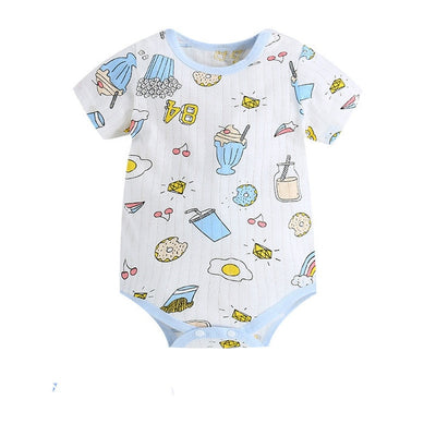 New Summer Baby Boys Romper Animal style Short Sleeve infant rompers Jumpsuit cotton Baby Rompers Newborn Clothes Kids clothing - ibootskids