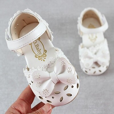 Newest Summer Kids Shoes 2020 Fashion Leathers Sweet Children Sandals For Girls Toddler Baby Breathable Hoolow Out Bow Shoes - ibootskids