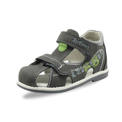 Summer kids shoes brand closed toe toddler boys sandals orthopedic sport pu leather baby boys sandals shoes - ibootskids