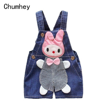 1 2 3 4T Baby Clothing Boys Girls Jeans Overalls Shorts Toddler Kids Denim Rompers Cute Cartoon Bebe Pants Summer Bib Clothes - ibootskids