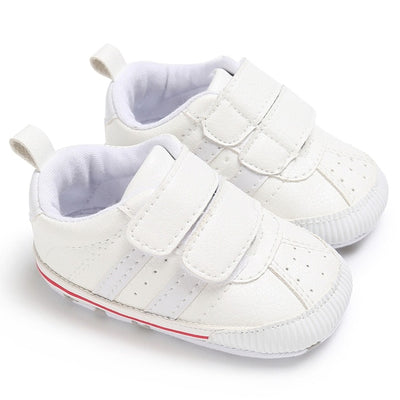 Infant Toddler Soft Sole Hook Loop Prewalker Sneakers Baby Boy Girl Crib Shoes Newborn to 18 Months - ibootskids